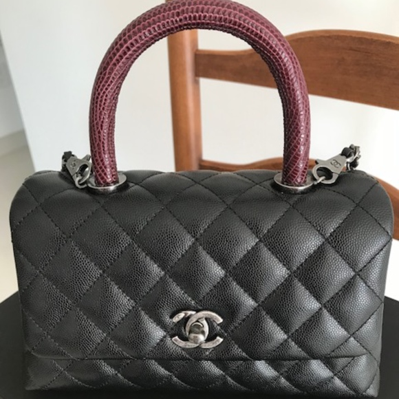 CHANEL Handbags - COCO LIZARD HANDLE CAVIAR MINI FLAP BAG 944aa46022a05